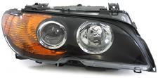 BMW E46 Coupe Cabrio 03-06 XENON D2S H7 SCHEINWERFER SCHWARZ BLINKER GELB RE