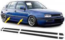 STOßLEISTEN ZIERLEISTEN TÜRLEISTEN SET 8 TEILIG FÜR VW Golf 3 4TÜRER 91-97