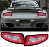 LED LIGHTBAR RÜCKLEUCHTEN ROT KLAR für Porsche 911 997 Coupe Cabrio 04-08