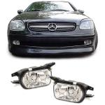 Mercedes C W203 CLK C209 SLK R170 KLARGLAS NEBELSCHEINWERFER HB4 CHROM PAAR