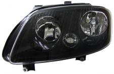 H7 H1 SCHEINWERFER SCHWARZ MIT STELLMOTOR LINKS f. VW Touran 03-06 + Caddy 04-10