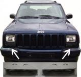 Jeep Cherokee XJ 97-01 SCHWARZE FRONT BLINKER
