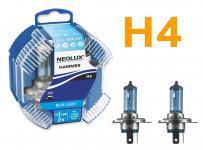 NEOLUX BLUE LIGHT H4 60/55W 12V HALOGEN 2 STÜCK IM DUOPACK