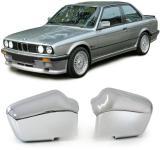 AUSSEN SPIEGELKAPPEN ABDECKUNGEN COVER CHROM FÜR BMW 3ER E30 82-94