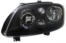 H7 H7 SCHEINWERFER SCHWARZ MIT STELLMOTOR LINKS f. VW Touran 03-06 + Caddy 04-10