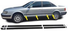 STOßLEISTEN ZIERLEISTEN TÜRLEISTEN MITTE SET für Audi 100 C4 90-94