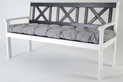 3er bank evje wei taupegrau gartenbank nordisches design. Black Bedroom Furniture Sets. Home Design Ideas