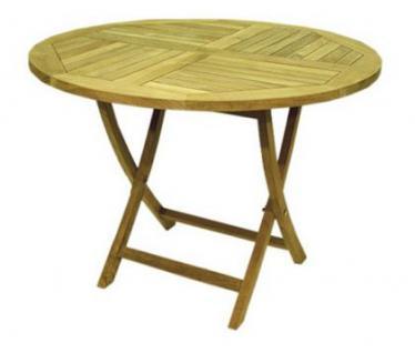 Klappbarer Tisch, rund 0,8 Meter x 0,75 Meter