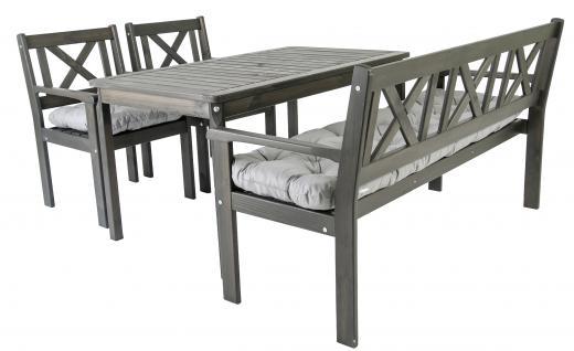 Gartenstühle holz grau  Gartenmöbel Holz Weiß Lackiert bestellen bei Yatego