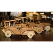 3er Set Miniatur Auto aus Teakholz