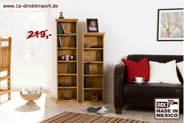 dvd regal mexico pinie massiv kaufen bei 1a direktimport. Black Bedroom Furniture Sets. Home Design Ideas