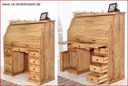 mexico sekret r schreibtisch hacienda pinie kaufen bei 1a direktimport. Black Bedroom Furniture Sets. Home Design Ideas