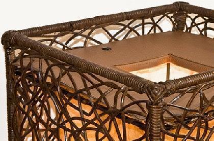 Stehlampe Stehleuchte Rattanlampe Raumteiler - Vorschau 2