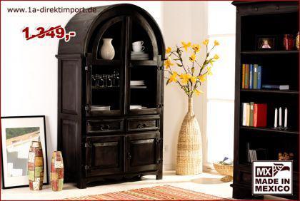 gro e mexico kolonial vitrine schrank pinie kaufen bei 1a direktimport. Black Bedroom Furniture Sets. Home Design Ideas