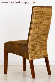 exklusiver stuhl pamplona rattan leder optik kaufen. Black Bedroom Furniture Sets. Home Design Ideas