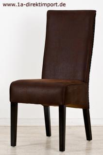 Exklusiver Stuhl Almería, Leder Optik, kolonial - Vorschau 2