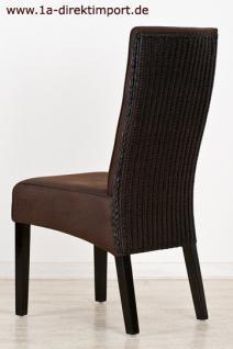 Exklusiver Stuhl Almería, Leder Optik, kolonial - Vorschau 3