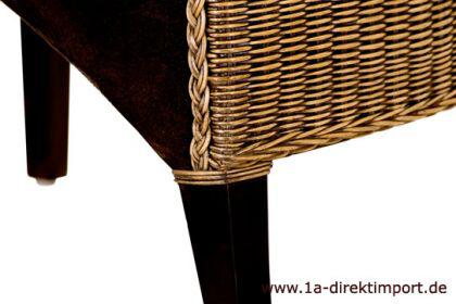 Exklusiver Lederstuhl Granada, Leder, Rattanstuhl - Vorschau 5