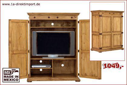 mexico hacienda tv schrank fernsehschrank pinie kaufen bei 1a direktimport. Black Bedroom Furniture Sets. Home Design Ideas