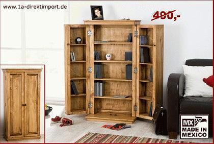 cd dvd schrank mexico pinie massiv kaufen bei 1a direktimport. Black Bedroom Furniture Sets. Home Design Ideas