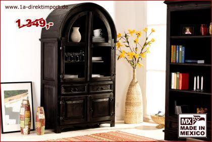 gro e mexico kolonial vitrine schrank pinie kaufen bei 1a direktimport. Black Bedroom Furniture Sets. Home Design Ideas