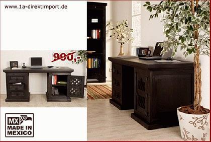 kolonialstil schreibtisch mexico pinie massiv kaufen bei 1a direktimport. Black Bedroom Furniture Sets. Home Design Ideas