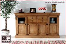 MEXICO Hacienda Highboard Schrank, Pinie