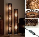 Stehlampe Stehleuchte Lampe Rattanlampe