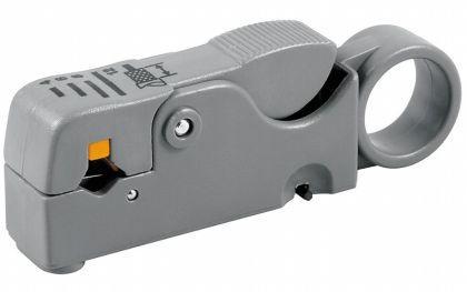 Abisolierwerkzeug mit 2 Klingen für Kabel Cat5, Cat6, RG 58, RG 59