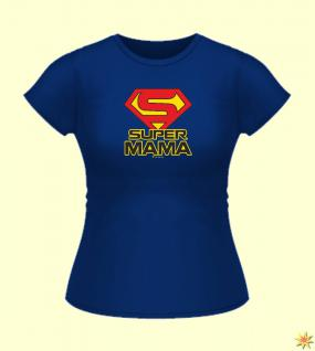 "Damen Shirt "" Super Mama "", Gr. M"