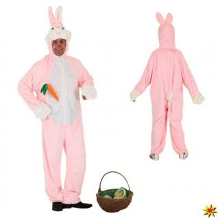 Kostüm rosa Hase, Bunny Overall