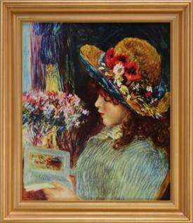 Renoir - Lesendes Mädchen: Leinwand Reproduktion
