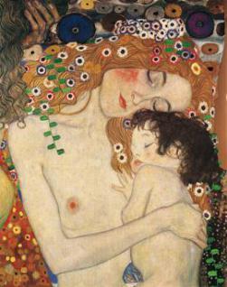 Klimt, Gustav - Mutter und Kind - Leinwand Repro