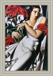 De Lempicka - Portrait Mme. P. - Leinwand gerahmt
