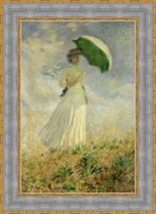 Monet - Frau mit Sonnenschirm - Leinwand Repro - Vorschau 1
