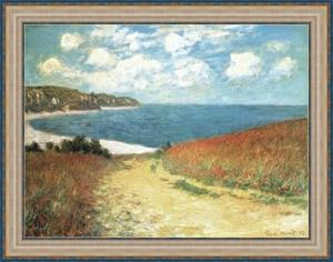 Monet - Meadow Road to Pourville (95cm x 75cm) - Vorschau 1