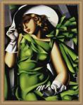 De Lempicka - La jeune Fille: Leinwand Kunstrepro