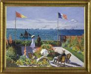 C. Monet, Garten in Sainte-Adresse; Leinwand