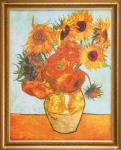 Van Gogh - Sonnenblumen: Leinwand Reproduktion
