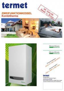 Gasheizung Termet MiniMax Eco Turbo - Kombitherme Heiztherme 7-22KW - Heizen & Warmwasser - Vorschau 2