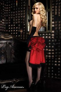 Leg Avenue - Burlesque Satin Rock mit Fransen und Ketten rot-schwarz - Gr. S-L