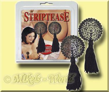 Intim Nippel Schmuck >Striptease< schwarz