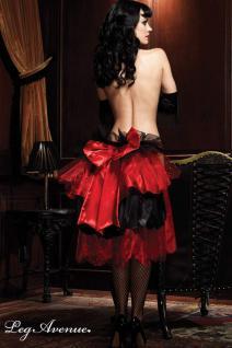 Leg Avenue - Burlesque Organza Rock mit Satin-Schleife rot-schwarz - Gr. S-L