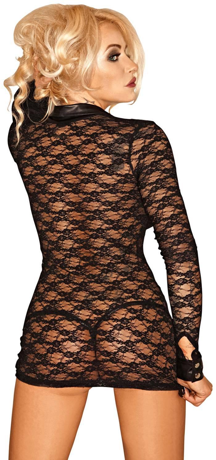 noir handmade transparente lang rmelige spitzen bluse. Black Bedroom Furniture Sets. Home Design Ideas