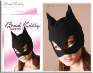 Bad Kitty - Extravagante Gothic Kopf-Maske im Cat Look schwarz - Gr. S-L