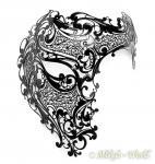 Venezianische Metall Maske Casanova für Damen und Herren schwarz