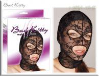 Bad Kitty - Kopfmaske aus Spitze mit Augen- und Mundöffnungen schwarz - Gr. S-L