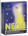 Leuchtkondome AMOR Neon 2er