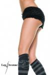 Leg Avenue - Süße Micromesh Rüschen Tanga-Shorts / Pants div. Farben