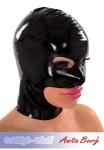 Anita Berg - Latex Zip-Kopfmaske mit Augen-Mund-Kinn-Öffnung